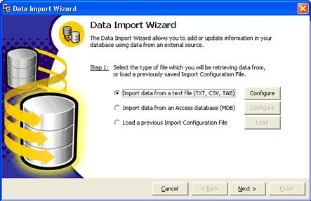 Additional Features Select Data Source The first step of importing data into ServiceCEO is to select the source that contains the information you want to import.