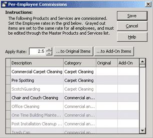 Employees The Edit Commissions button is only active if Commissions, Flat Fee Plus Commissions, or Hourly Plus Commissions is selected from the Payroll drop-down list on the employee's Payroll Setup