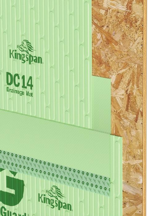Appendix: Installation as a Water Resistive Barrier (WRB) when Re siding Kingspan GreenGuard DC14 Drainage Mat is recognized for use as a water resistive barrier in Intertek CCRR-1022 when it is