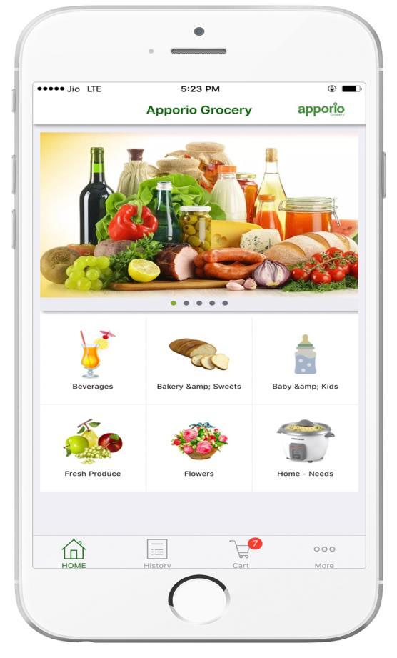 APPORIO GROCERY FEATURE LIST: 'Apporio Grocery complete Solution consists of a User App, and Admin Dashboard.