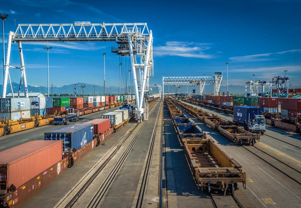 GCT Deltaport Intermodal Yard Reconfiguration Details of the Reconfiguration Original Design Reconfigured Design The proposed GCT Deltaport Intermodal Yard Reconfiguration is the second component of