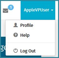 Figure 3: Profile Menu Help: Online Help is extremely useful to users. The help can be used as an online quick reference guide by searching topics or searching by keyword.