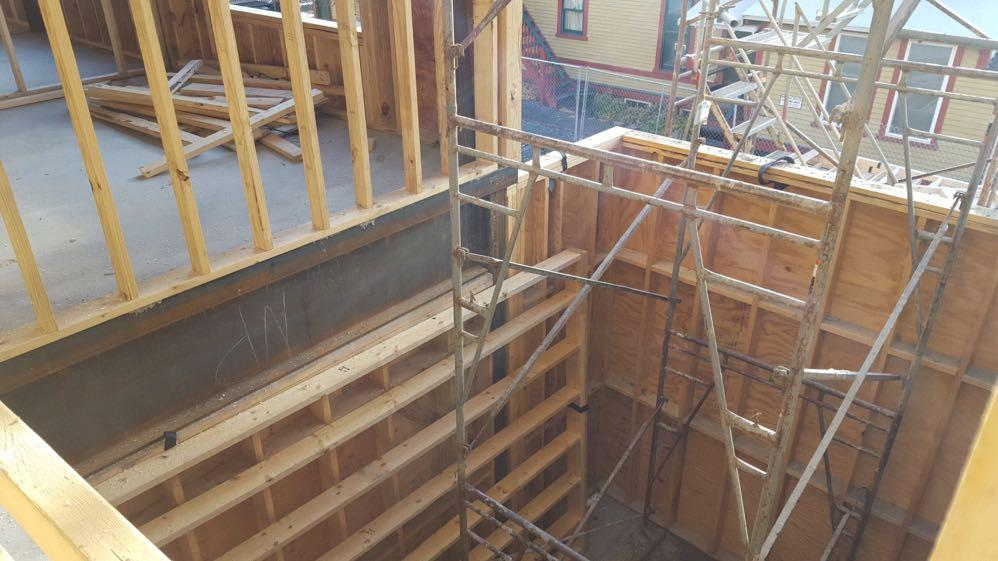 Masonry Shaft Walls Mixing masonry shaft walls with wood floor framing can create several issues: Masonry shaft walls often become part of building s lateral force resisting system This increases