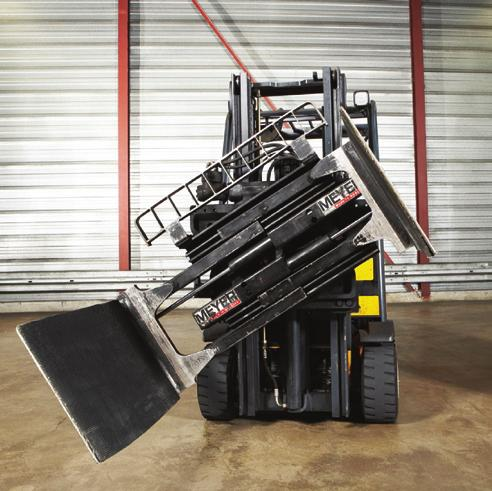 The recommended method is using a motorized lift truck which has the additional equipment for rotating the bale by 90 degrees with suitable clamps.