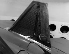 In addition, tests were performed to measure the rudder's effectiveness at high angles of attack.