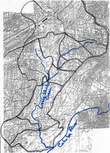 Approach Investigated many land uses in the Birmingham, AL, area: 1 large watershed, the Little Shades Creek Watershed (125 neighborhoods / 6 land uses) (original data collected in mid 199s by USDA
