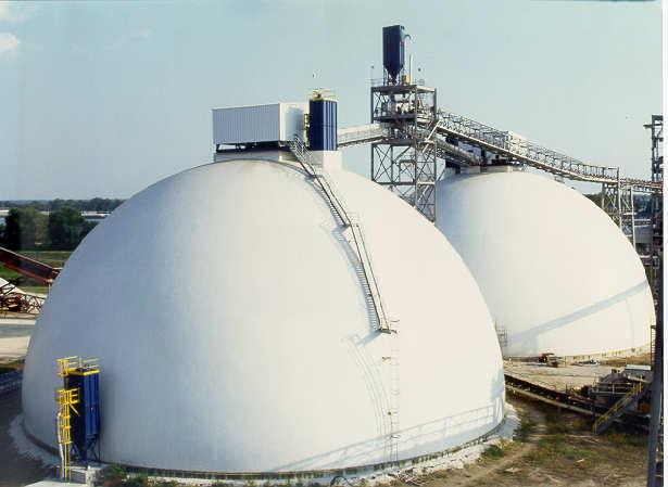 1. Introduction Bulk Terminal Operations 25-26 March 2003 Antwerp, Belgium Dome Storages for Terminals Reclaim System Concepts and Comparisons Mike Hunter, DOMTEC International Concrete domes are