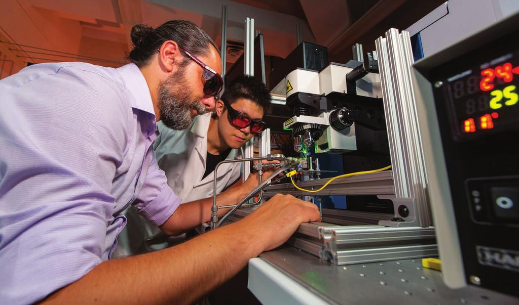 Professor Tsilomelekis and Hedun Wang (PhD candidate) working on assembling the optical reactor suitable for advanced spectroscopic measurements under real reaction conditions.