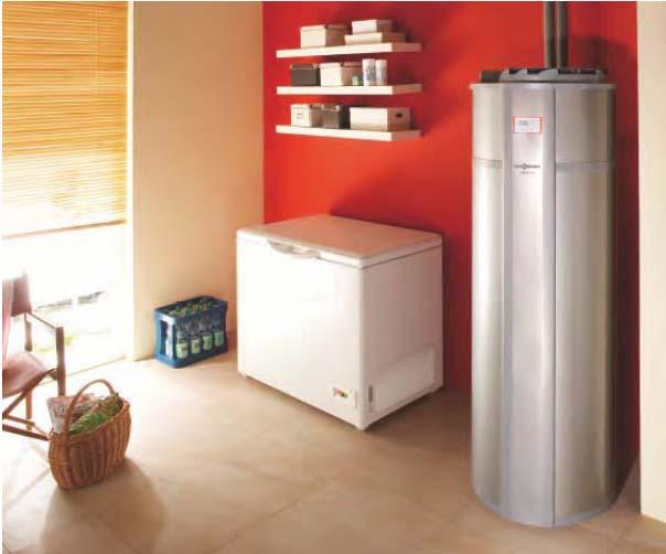 Vitocal 160-A Air source heat pump for DHW heating 1,52 kw, 285 liters Sample Calculation: 300liters/day hot water 1.