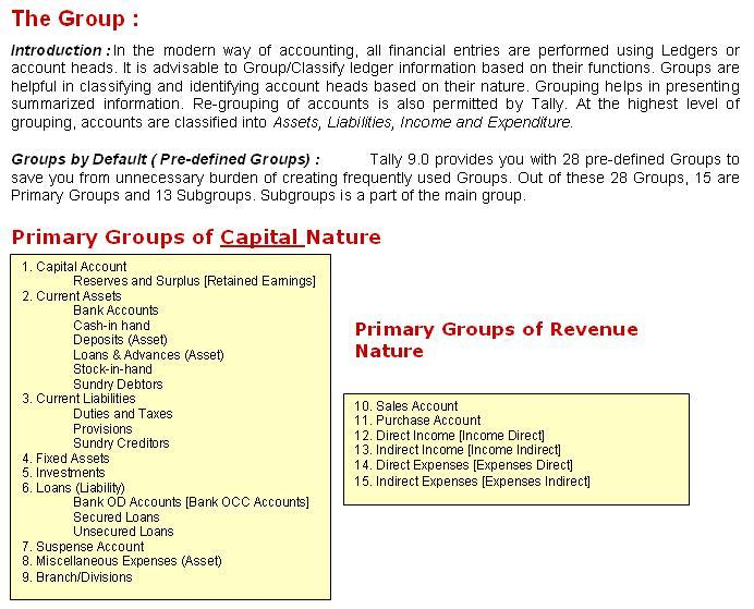 Primary Groups of