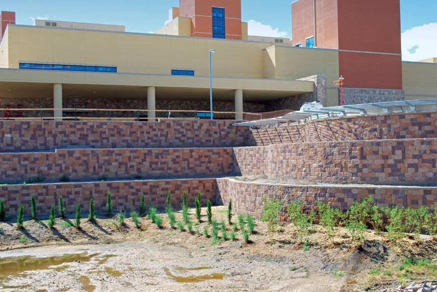 From blending and variegating colors and textures to planting greenery on tiered walls and top slopes, segmental retaining walls become more than a structural element they become an appealing