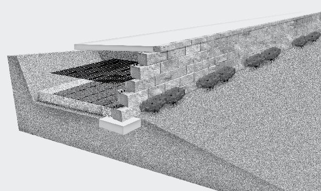 mesa Retaining wall Systems provide the dependability engineers require, the efficient installation contractors expect, and the aesthetics owners and architects demand.