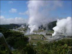 Geothermal power Hot water used as energy heat