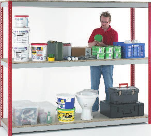 HEAVY DUTY Strong and robust adjustable shelving for manufacturing, engineering and production environments.