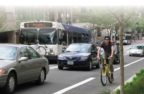 TRANSPORTATION CHOICES Providing more options for transportation users is an important element for a healthy transportation system.