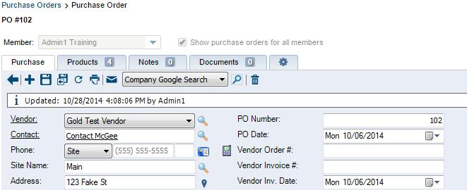 Payable Invoices When transferring Purchase Orders from ConnectWise to Sage 50 Accounts, the ConnectWise PO Number will be used as the Sage 50 Accounts