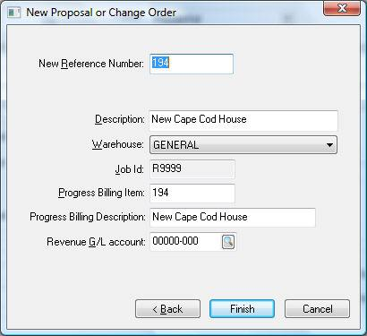 Printed Documentation existing progress-billing change order line rather than changing the original quote amounts.