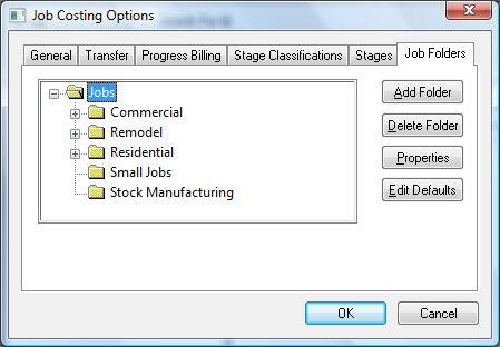 Getting Started Adding and Deleting Job Folders The folder feature allows the user to organize jobs by the type of job.