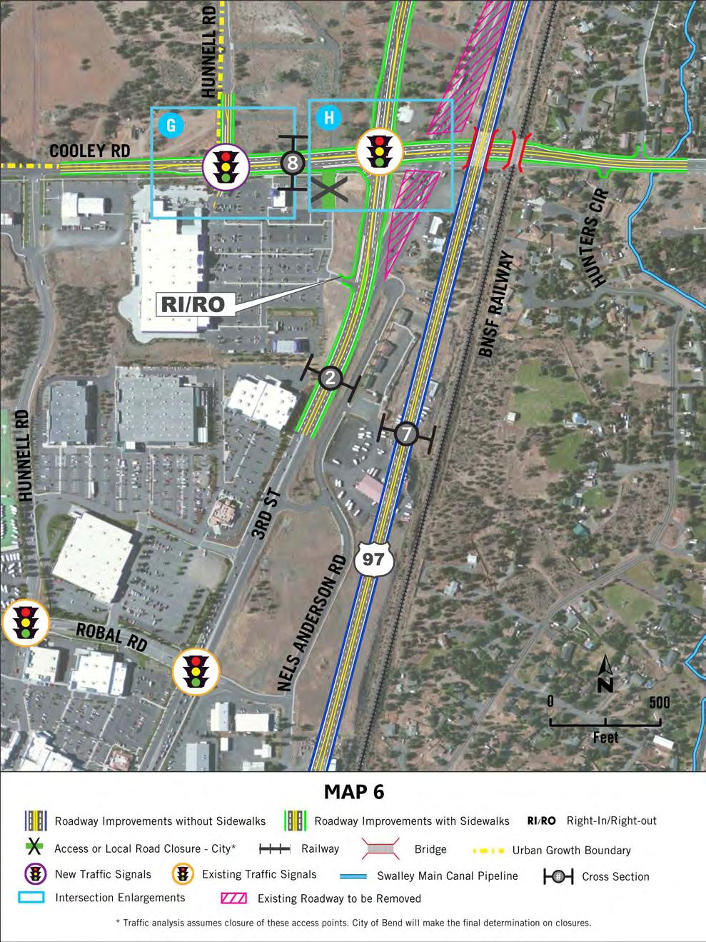 Exhibit ES-5 FEIS: Preferred Alternative (Map 6) Executive Summary 32 3rd Street south of Loco Road 6 ft 5 ft 6 ft 12 ft 12 ft 16 ft 12 ft 12 ft 6