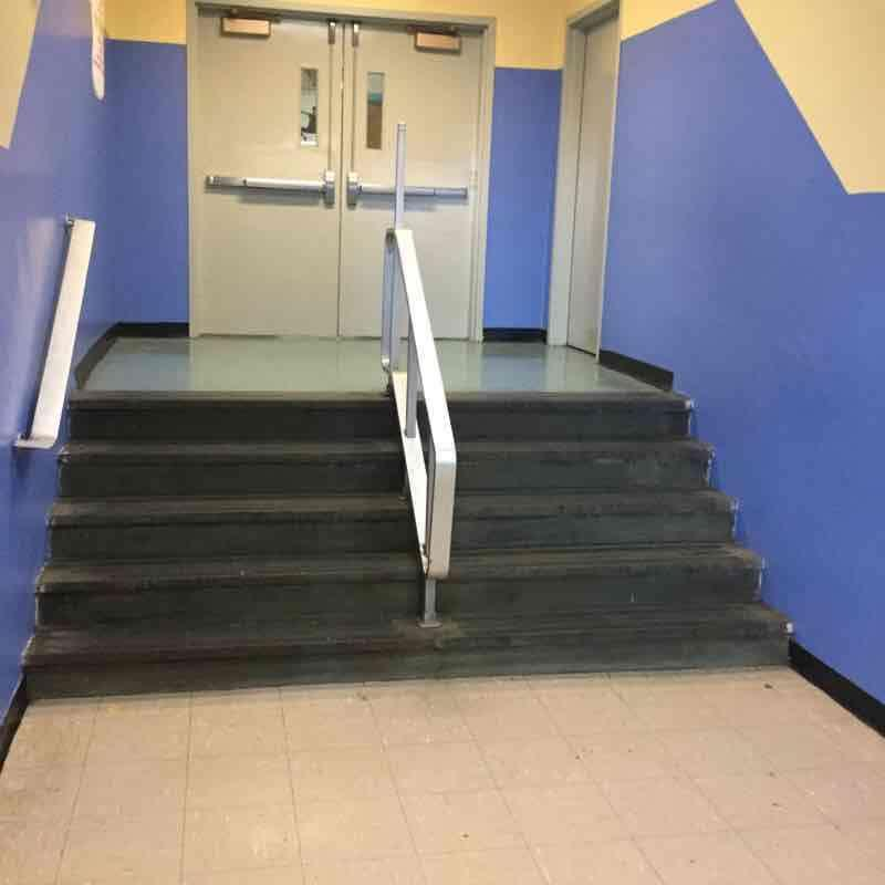 INTERIOR STAIRS/RAMPS: INTERIOR Railings Photo1 Building Assessment Survey 2017-2018 Auditorium