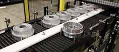 ORIENTING Ensures gentle product handling for organized conveying