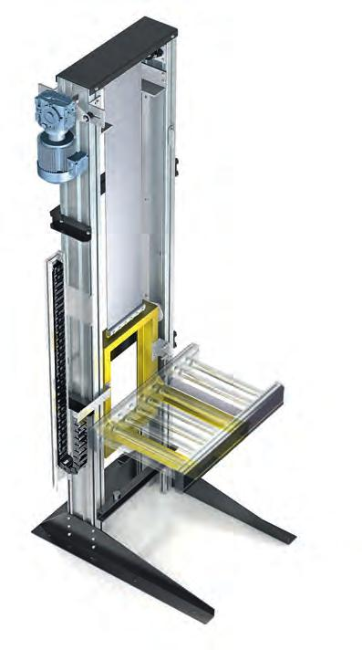 lifting and lowering 99 Easy to use All key elements are designed to be combined with belt and roller conveyors