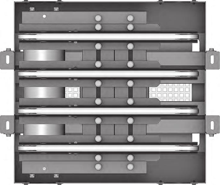 ) separately teel components are powder-coated (in black RAL 9005 or in grey RAL 7030) or zinc-plated 5710 Clearance 460 to 1,010 Transfer belt 2 strands 2 3 strands 3 4 strands 4 Outer belt centre