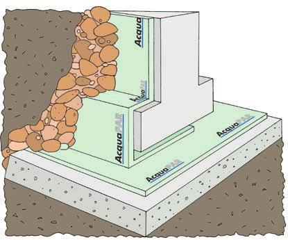Applications characteristics FOUNDATIONS The formation of the building foundation is more complex, compared to construction of an exterior wall above ground, where the retaining materials are more