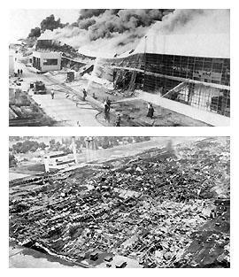 GM transmission plant fire, 1953 Livonia, MI Class 2 construction,