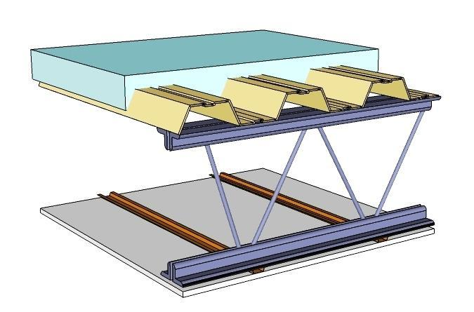 when fire occurs below metal deck roof, the metal heats up, heat is conducted