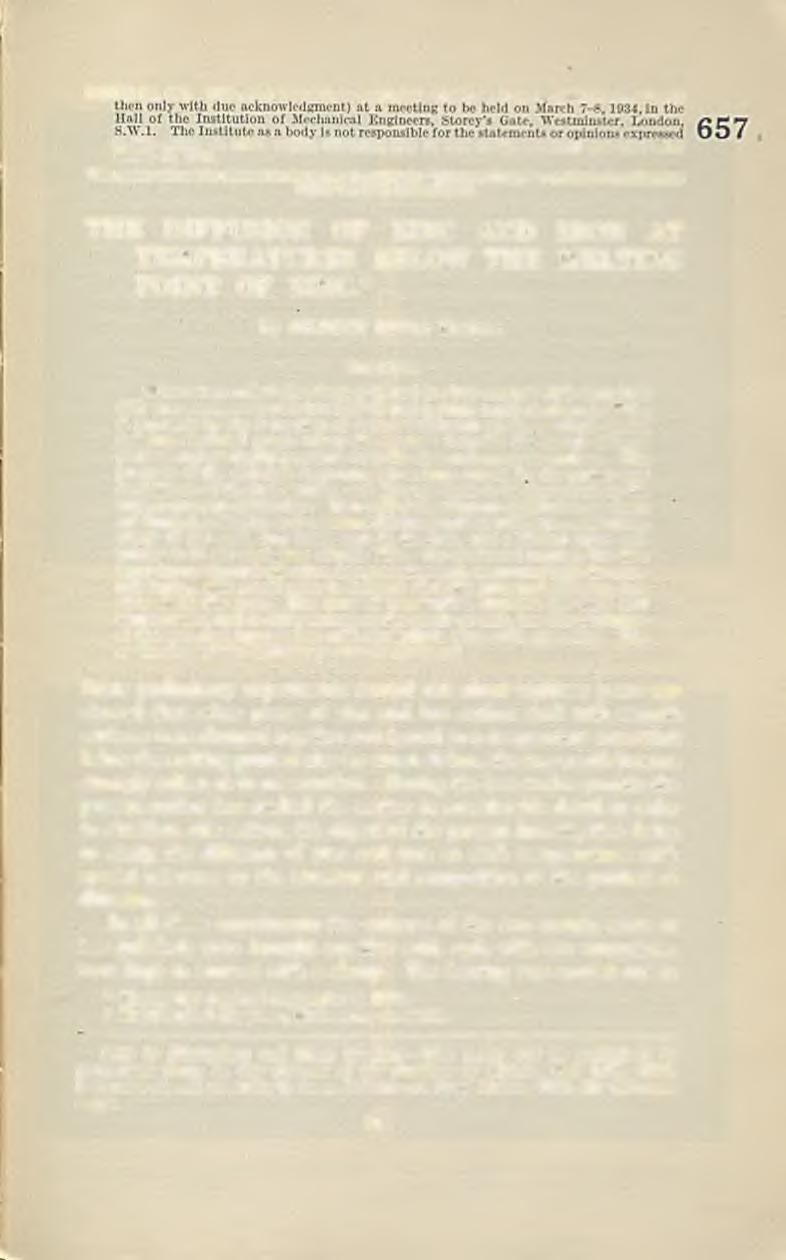 PAPER No. 657. This paper is not to be reprinted, wholly or in part, until presented (and in this paper, on which written discussion m a y be sen t to the Secretary n o t later than M arch 10, 1934.