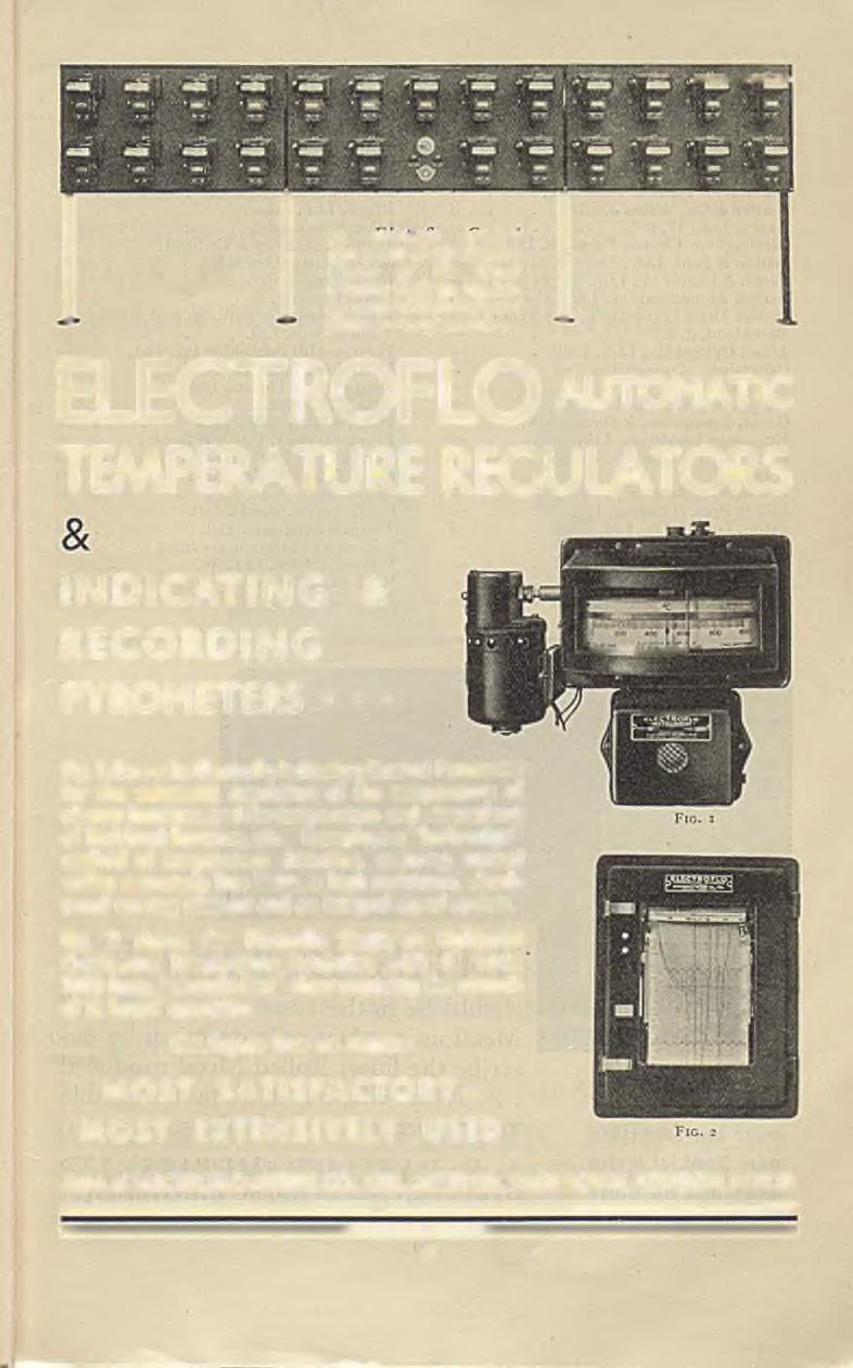 25 mecirojio control Pyrometers at the Swindon Works of the Great Western 'Railway, regulating gas-fired heat-treatment furnaces a repeat order.