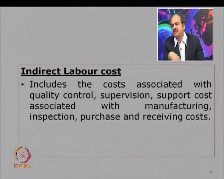 (Refer Slide Time: 21:58) Similarly, you can have indirect labor costs.