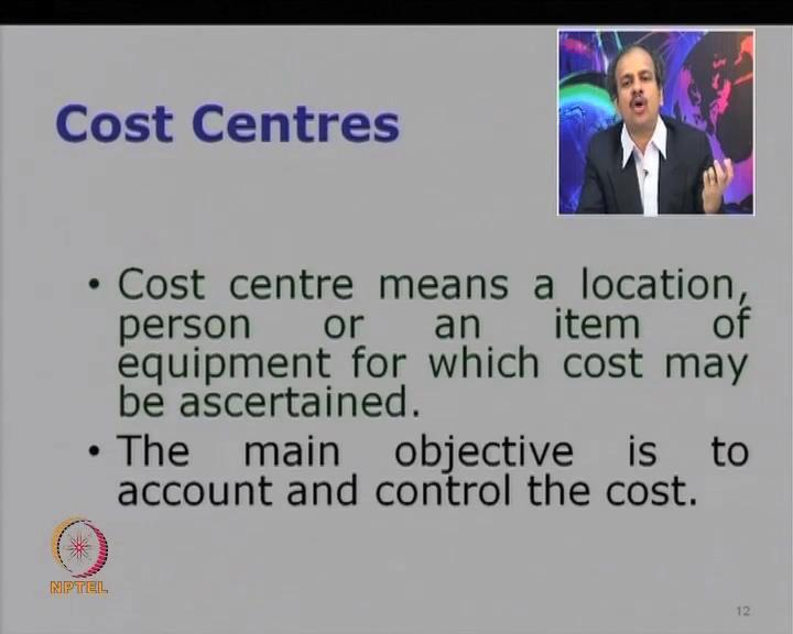 So, you might be wondering, what is this cost center? So, cost center is essentially a unit of business.