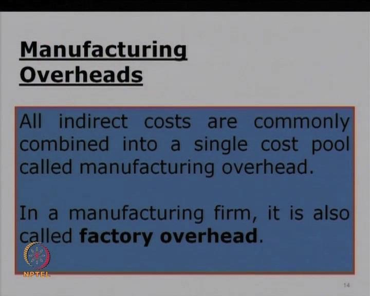 (Refer Slide Time: 35:54) Now, let us go at manufacturing overheads.