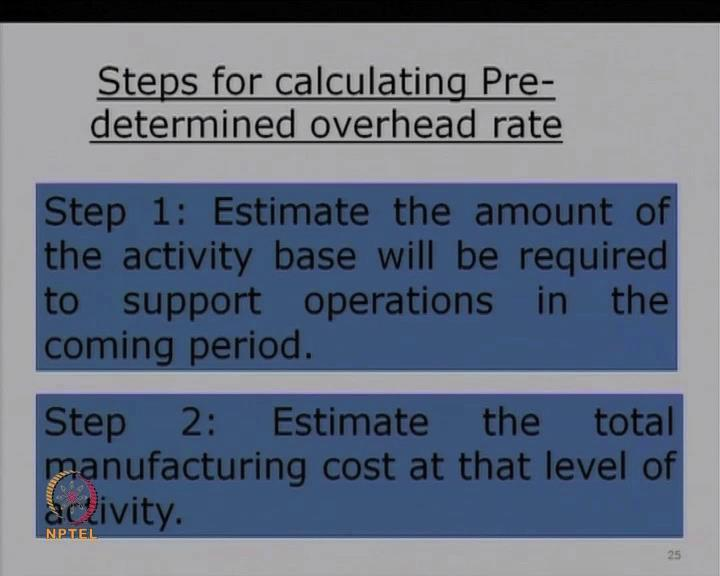 (Refer Slide Time: 48:45) Now, what could be the purpose for having a pre-determined rate? Why do you want to have it as a pre-determined?