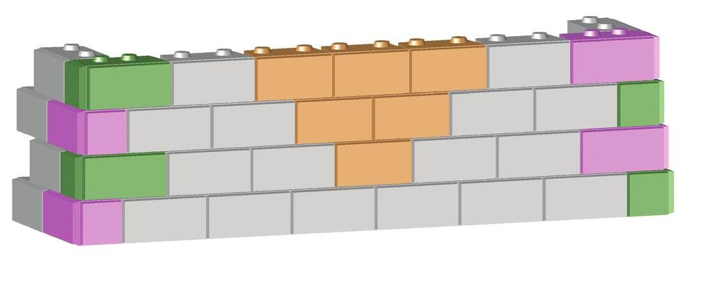 Simply use your standard Full Units, combined with Inside and Outside Corner Blocks, to create your wall. Remember that each course must step back 2 inches.
