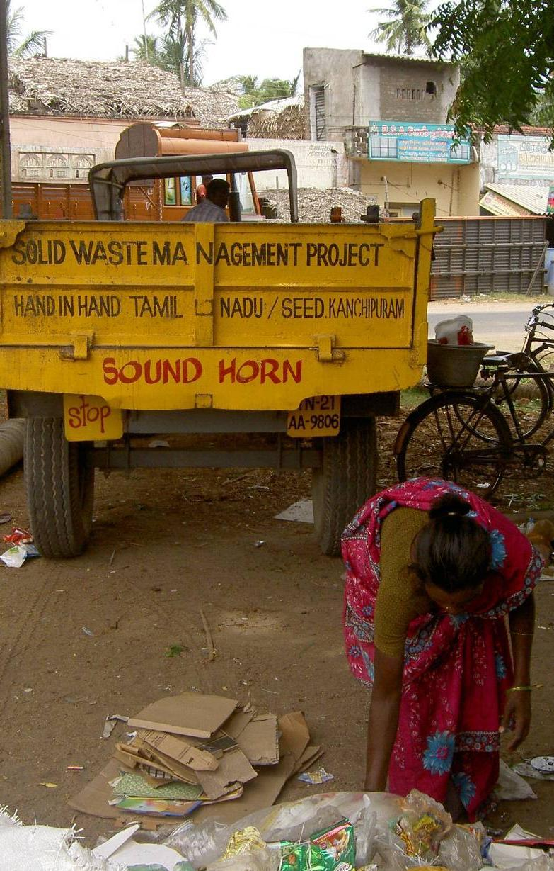 Some important considerations in SWM in India People must accept value of waste collection services Fee collection crucial for economical viability Biological waste treatment (composting, biogas) is