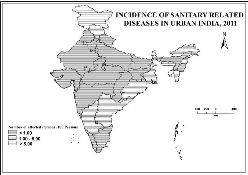 country, reveal better sanitary condition because they are characterised by less than one person per 100 persons affected.