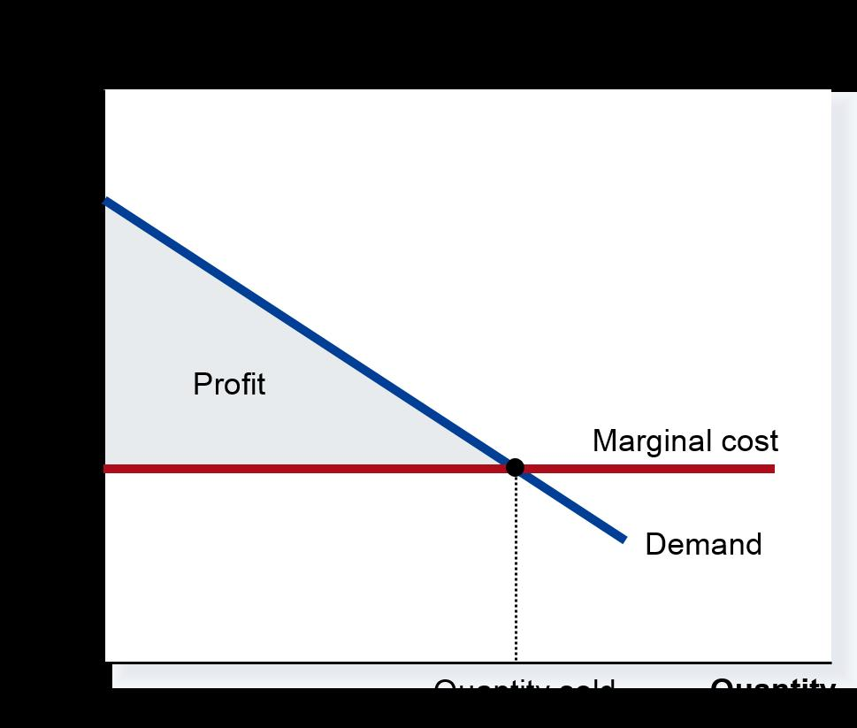 Monopoly Perfect price discrimination Total surplus increases (inefficiency related to monopolies