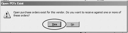 With or Without Bill 2. In the Create Items Receipts window enter Vendor s Name & tap Tab 3. If there are open P.O.