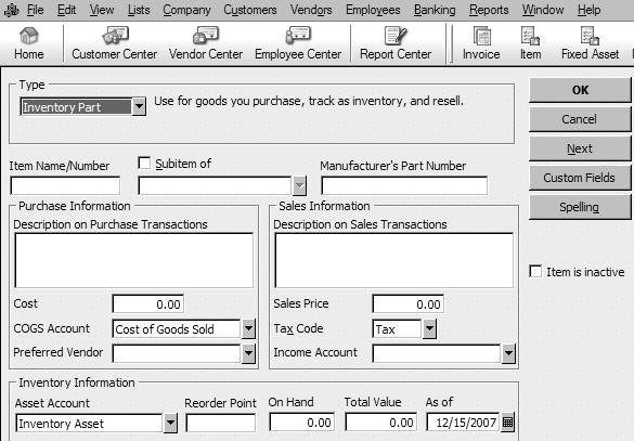 Instructions for Adding a New Inventory Item It is VERY important to use the Purchase Orders System.