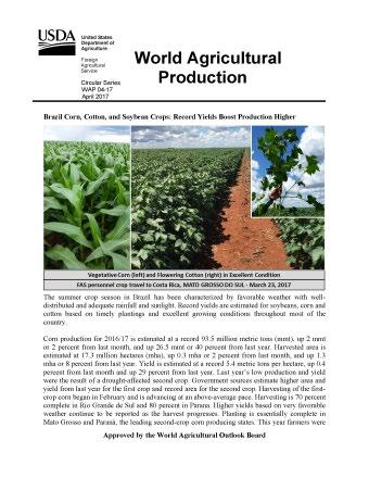 World Agricultural Outlook Board (WAOB)