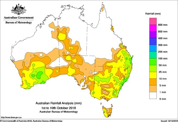 Early October rainfall has