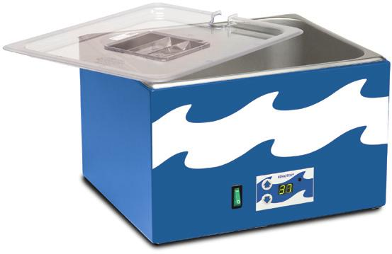 5 x 6 chamber Includes one cover Cat. #538 The Edvotek 10 L waterbath incorporates digital temperature control and an optional shaking capability!