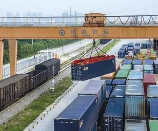 Connection facts 144 % In the first half of 2017, the value of goods traveling by train between China and Europe rose by 144 % compared with the same period in 2016. 1.45 million The yearly container transportation capacity between Europe and China by KTZ-Express, the train operator.