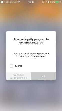 SCAN RECEIPTS AND GET REWARDS Scanning of receipts is available via