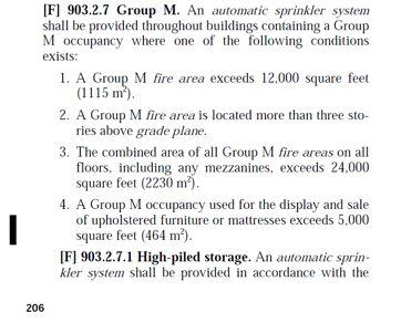 Chapter 9 Area Limits for Nonsprinklered Buildings Sprinkler Trade-offs Reductions in corridor ratings and
