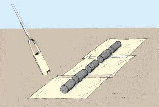 sheet of plastic or newspaper; Continue drilling 10 to 15 cm at a time; place the