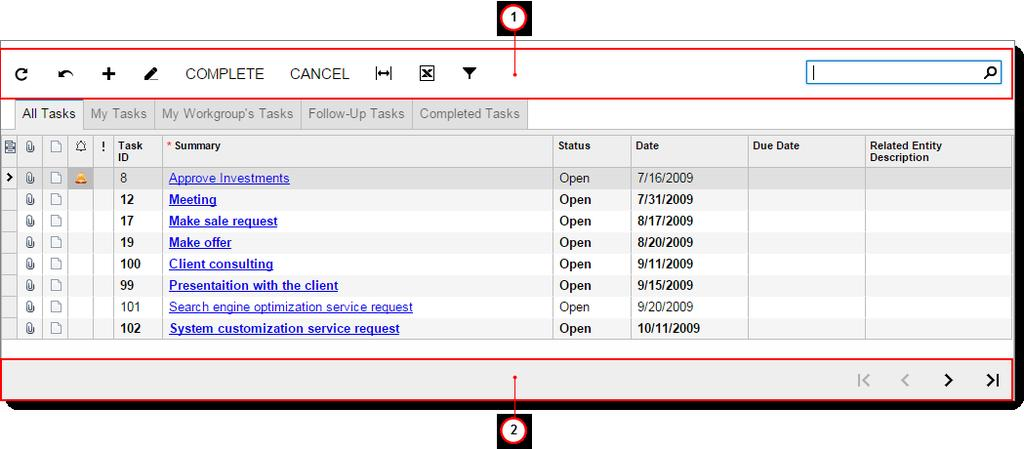 Appendix 146 Inquiry Form Toolbar Buttons Acumatica ERP inquiry forms present the data in a tabular format.